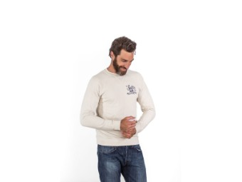 Faster Sons Pullover Sweater Script Yamaha beige