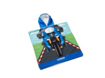 Handtuch Kinder-Poncho Handtuch mit Yamaha Rennfahrer
