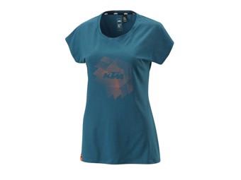 T-Shirt: Women Style tee Blue