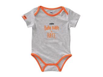 Baby Strampler: Baby Radical Body grey Melange