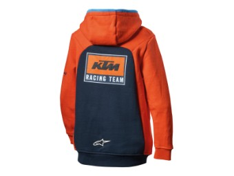 Kinder Kaputzen Pullover: Kids replica team zip hoodie