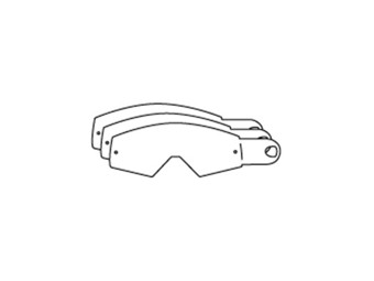 RACING GOGGLES TEAR OFFS 12ct.