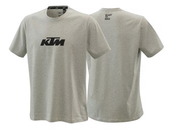 T-Shirt: Pure Logo tee grey Melange