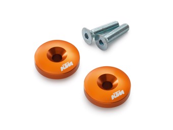 CNC Lenkerenden orange eloxiert 125-390 Duke & RC