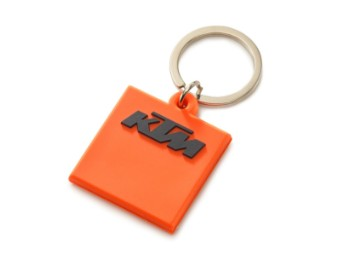 Schlüssel Anhänger | Logo rubber keyholder orange