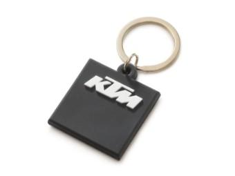 Schlüssel Anhänger | Logo rubber keyholder black