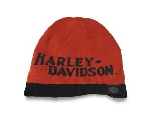 Mütze Reversible orange/schwarz