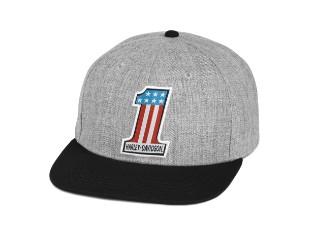 No. 1 Baseball-Cap, grau/schwarz