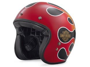 Motorradhelm Jethelm B01 Retro Flame