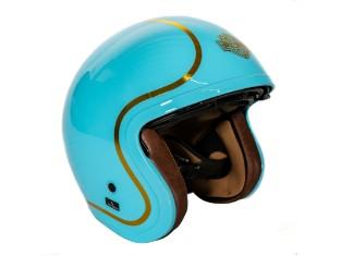Helm M06 Boogie 3/4 hellblau glänzend