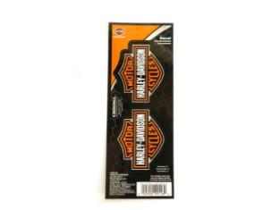 Harley Davidson Bar & Shield Sticker/ Aufkleber, orange