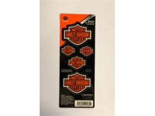 Harley Davidson Bar & Shield Logo-Aufklebern, orange