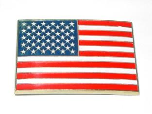"Harley Davidson Gürtelschnalle ""USA Fahne"" , Metall"