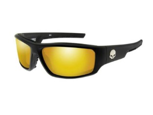 Baffle Sonnenbrille, orange Spiegelgläser & mattschwarzen Rahmen