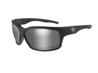 COGS-Sonnenbrille mit Silbernen Flash-Gläsern & Mattschwarzem Rahmen