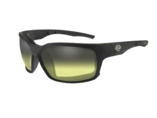 Herren COGS-Sonnenbrille, Lichtanpassung, gelbe Gläser/schwarze Fassungen
