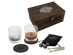 Harley Davidson Premium Whiskey Glas Geschenk Set