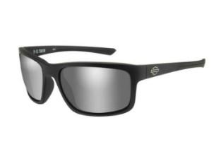 Twin Sonnenbrille, Silber Flash-Gläser & mattschwarzem Rahmen