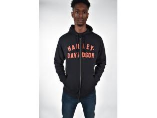 Harley Davidson Kapuzen Zipp-Hoodie, orange/schwarz