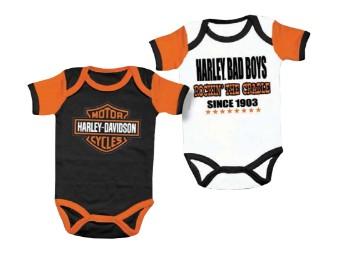 Harley Davidson Baby Boy Bodysuits, Jungen