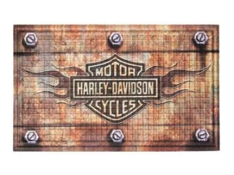 Harley Davidson Flame Bar & Shield Fußmatte