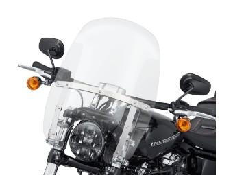"""Wind Splitter Quick-Release Compact Windschild 18"""" klar & poliert"""