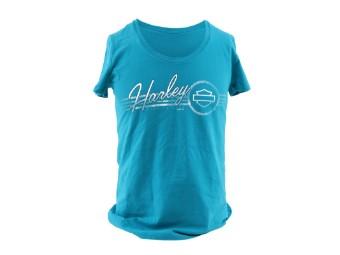 Dealer Shirt Aqua/White Comfort