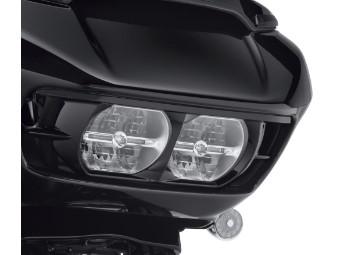 Scheinwerfer Cover schwarz für die Road Glide Modelle ab '15.