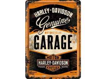 Blechkarte Genuine Garage