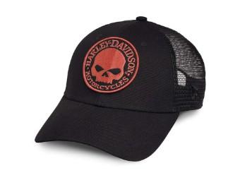 Trucker Cap Willie G Skull Orange