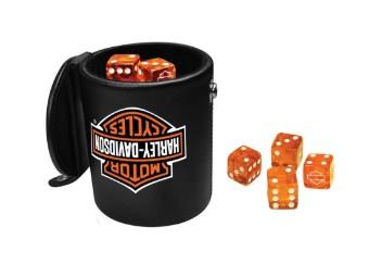 Harley-Davidson Bar & Shield Logo-Würfelbecher-Spielset