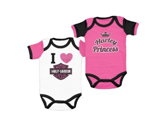 Harley Davidson Baby Girl Bodysuits, Mädchen