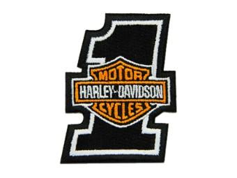2 Zoll gesticktes #1 Bar & Shield Logo Emblem Aufnäher