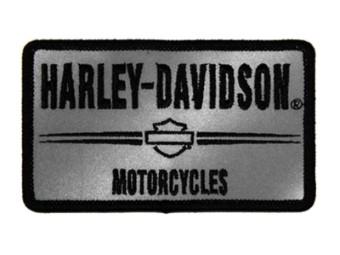 Harley Davidson Motorcycle Patch, Silber, 7,6 x 5,7 cm