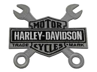 8 Zoll gesticktes Schraubenschlüssel Bar & Shield Logo Patch