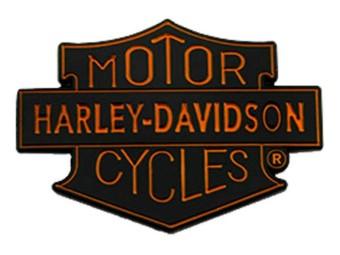 1,5 Zoll. Motorrad Trademark Shield Metall Pin, schwarzes Finish