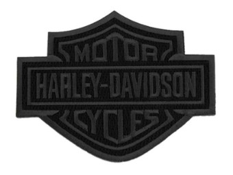 8 Zoll gesticktes schwarzes Bar & Shield Logo-Emblem zum Aufnähen