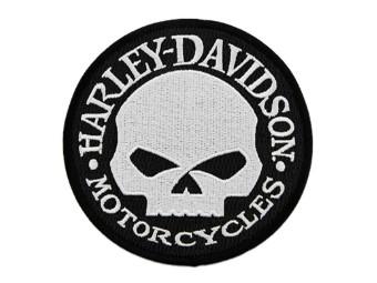 4 Zoll. Gesticktes Willie G Skull Logo, kleines Emblem, Aufnäher