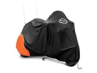 Premium Indoor Motorradplane für Trike Modelle, schwarz / orange