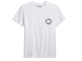 Harley Davidson, Skull T-Shirt, white