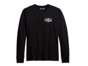 Harley Davidson, longsleeve, langarmshirt, schwarz