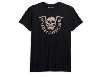 Harley Davidson, Männer T-Shirt, schwarz