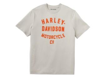 Herren T-Shirt aus Baumwolle - Racer Motorcycles Logo Tee Shirt Kurzarm Oberteil für Männer Rippstrick