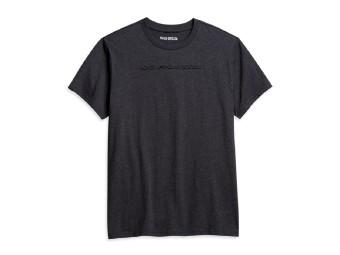 Harley Davidson T-Shirt mit leichtem, unaufälligen Aufdruck, dunkel Grau