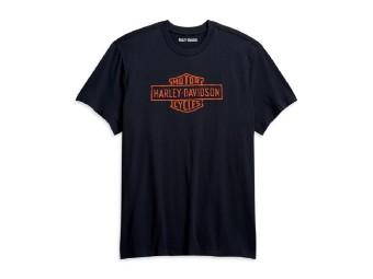 Harley Davidson Herren-Vintage-Logo T-Shirt- Slim Fit