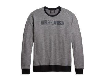 Harley Davidson longsleeve, Langarmshirt grau