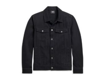 Harley Davidson Jeans Jacke, schwarz