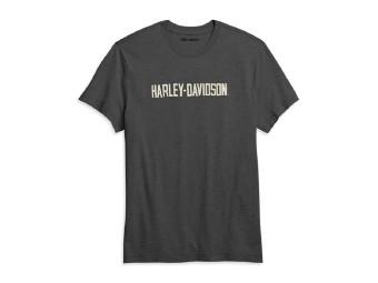 Harley Davidson T-Shirt, grau mit weißer Aufschrift