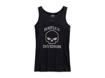 Harley Davidson SKULL TANK, Women, Schwarz