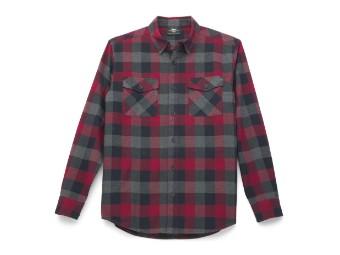Harley Davidson Buffalo Plaid Shirt für Herren, rot